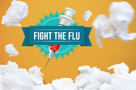 dna sequencing: Digital composite of Fight the flu design