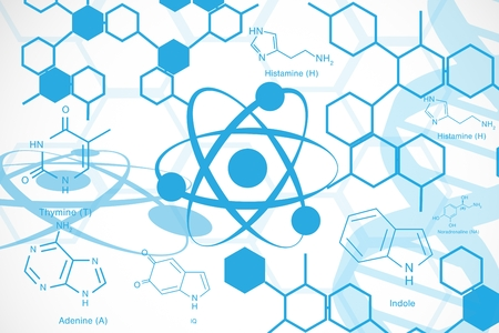 Composite image of chemistry icons