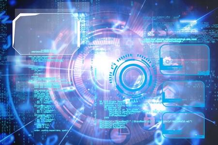 digital composite: Digital composite of Technology graphic