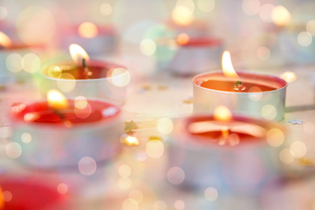burning time: Candles burning during christmas time