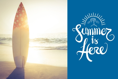 weekend activities: Digital composite of summer is here vector