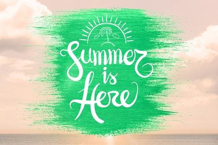 digital composite: Digital composite of summer is here vector