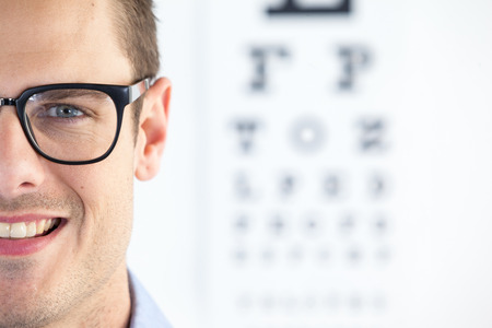 wearing spectacles: Portrait of handsome man wearing spectacles