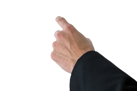 gesturing: Businessman gesturing on white background