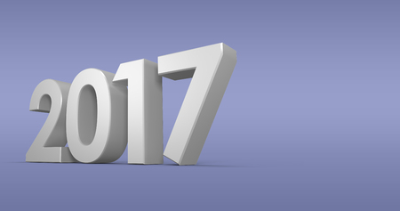 digitally generated image: Digitally generated image of year against purple paper Stock Photo