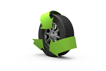 green arrows: Wheel with green arrows for ecology