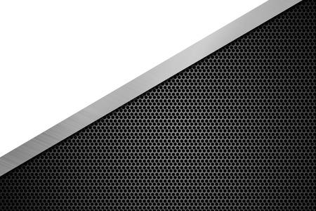 fond de la texture en métal noir