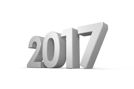 digitally generated image: Digitally generated image of year against white background