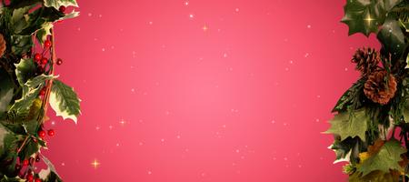 vignette: Stars against red vignette