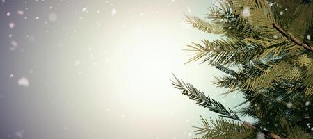 vignette: Snow falling against grey vignette