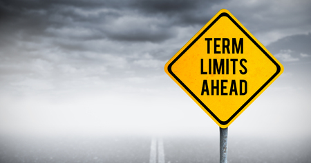 presidential: Term limits ahead against stormy sky over road Stock Photo