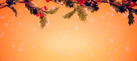 vignette: Twinkling stars against yellow vignette