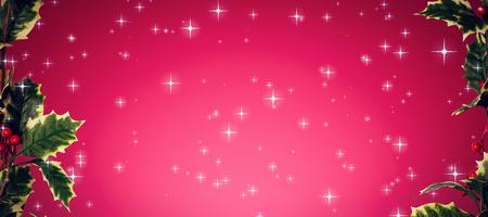 vignette: Twinkling stars against red vignette Stock Photo
