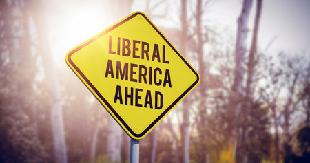 liberal: liberal america ahead against trees growing in forest