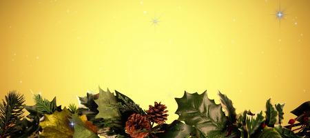 vignette: Stars against yellow vignette Stock Photo