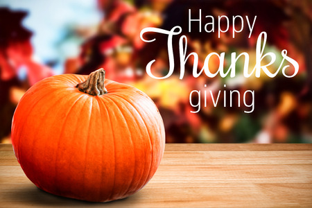Thanksgiving greeting text over white background