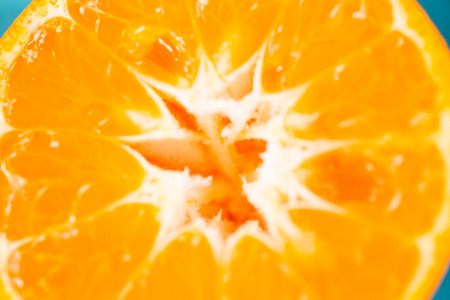 sliced orange: Close-up of sliced orange Stock Photo