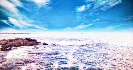 adventuring: View of ocean and rocks