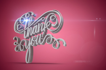 Digitally generated image of thank you text against red vignette Stock Photo