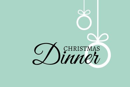 Digital Composite of Christmas Message on BlueGreen Background Design