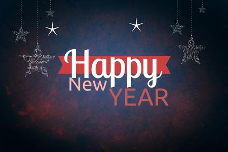 peep: Digital Composite of New Year Message on Dark Background Design