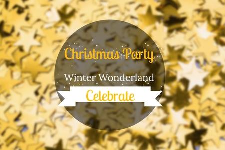 Digital Composite of Christmas Message on Gold Star Background Design