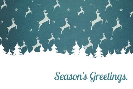 peep: Digital Composite of Flying Deer and Message Design on Grey Background