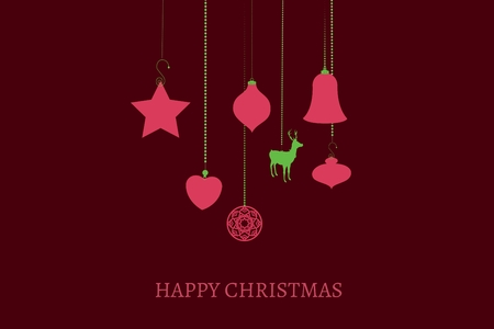 directly above: Digital Composite of Christmas Message and Decoration on Brown Background Design