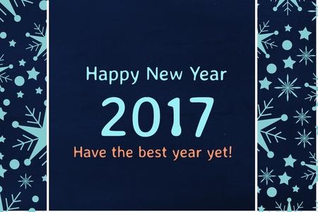 mid adult men: Digital Composite of New Year Message on Black Background Design