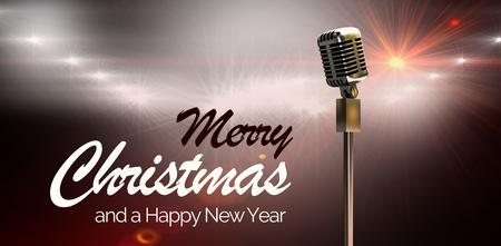 happy christmas: Happy christmas against spotlights