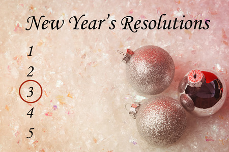 new years resolution: Composite image of new years resolution and decoration