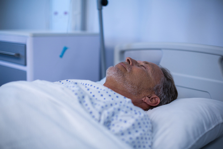 hospital patient: Patient relaxing on bed in hospital