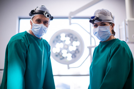 Portrait of surgeons in operation room at the hospital