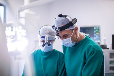 Surgeons in operation room at the hospital