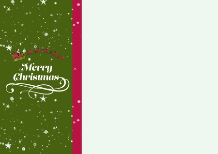 secrete: Close-up of green christmas greeting during christmas