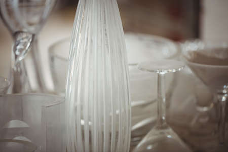 cristaleria: Close-up of glassware at glassblowing factory LANG_EVOIMAGES