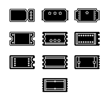 event icon: Vector icon set for label on white background