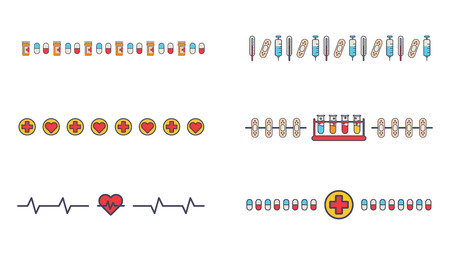 neuroscience: Medical vector icon set on white background