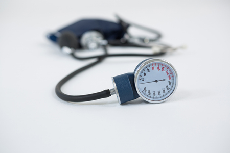 tonometer: Close-up of blood pressure measuring equipment on white background