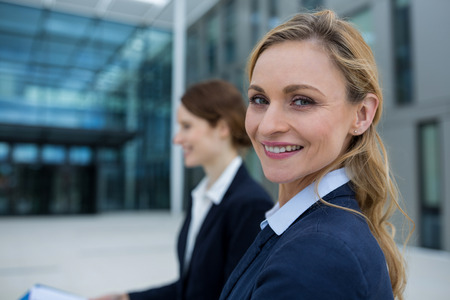 premises: Portrait of beautiful businesswoman in office premises
