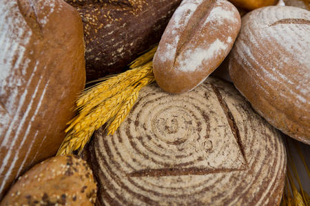 loaves: Close-up of various bread loaves