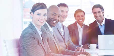 Business group showing diversity in a meeting. business concept. photo