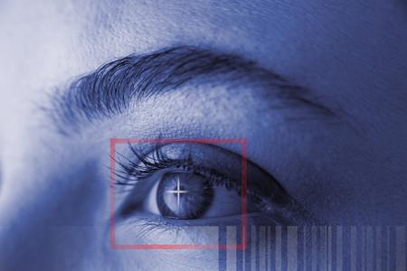 Composite image of Bar code against illustration of virtual data
