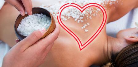 masseur: woman enjoying salt scrub massage