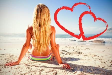 dozing: a woman getting a tan