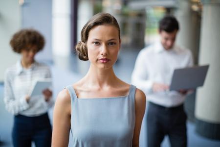 conference centre: Portrait of a confident businesswoman at conference centre