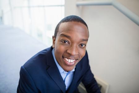 conference centre: Portrait of a businessman smiling at conference centre