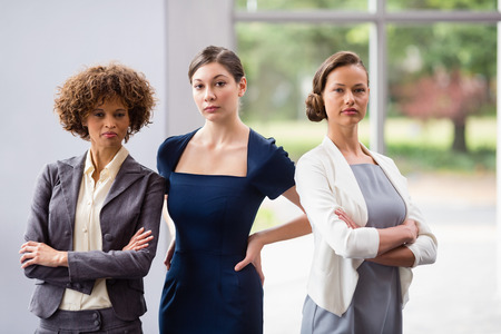 Portrait of confident and beautiful business executives at conference centre