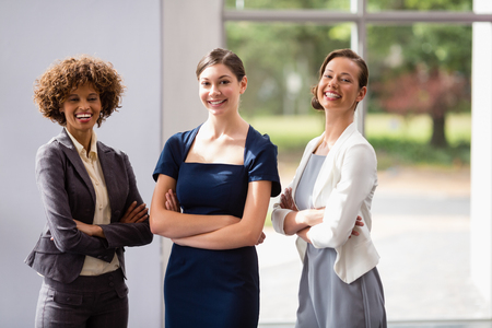 conference centre: Portrait of confident and beautiful business executives at conference centre