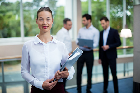 Portrait of female business executive at conference center